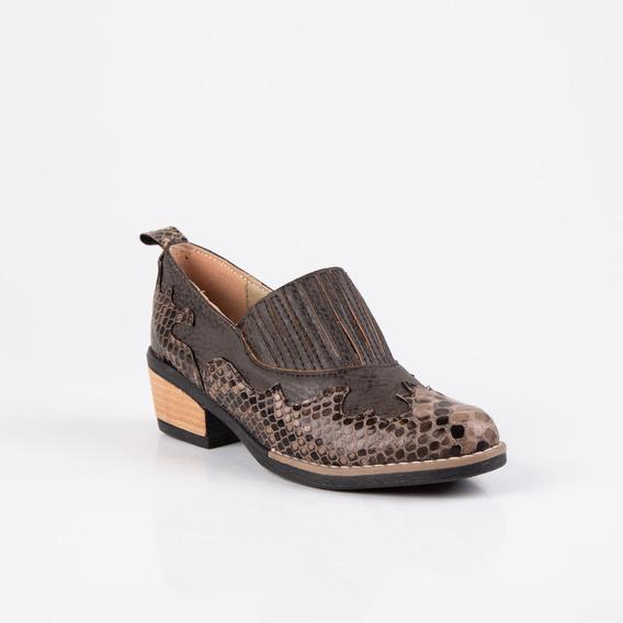 Zapatos Mujer Charritos Texanas Nueva Temporada Taco Bajo