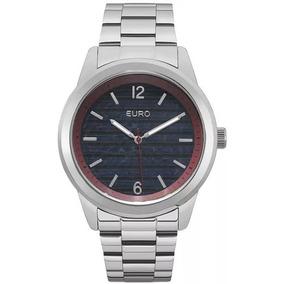 Relógio Euro Unissex Prateado Eu2033ap/3a