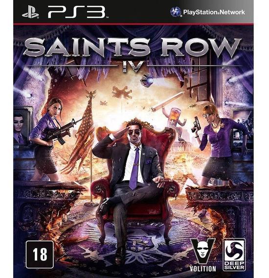 Saints Row Iv 4 Ps3 Jogo Novo Original Lacrado Mídia Física