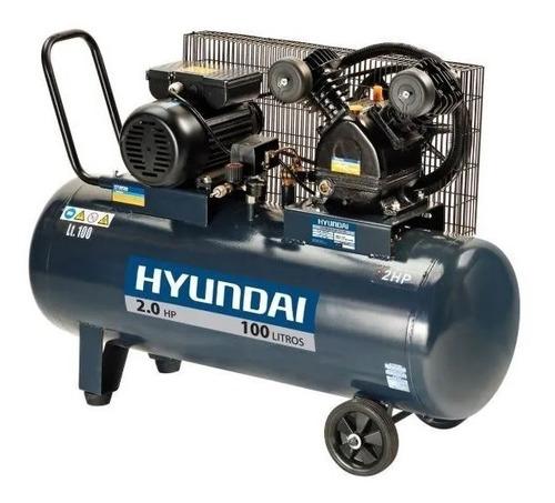 Compresor Hyundai 100lts. 2hp Hyac100c