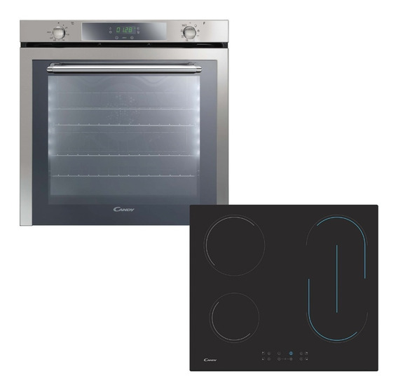 Combo Candy Horno Electrico Fcxe825vx + Anafe Vitro Ch64bvt