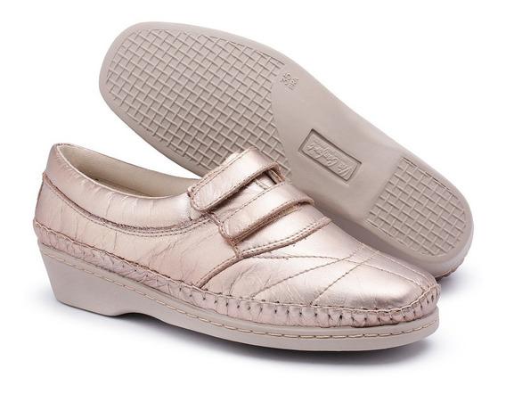 Sapato Em Couro Regula Peito Do Pé , Mocassim Feminino Plus
