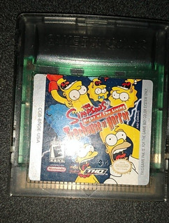 The Simpsons Night Of The Living Treehouse Of Horror Gameboy