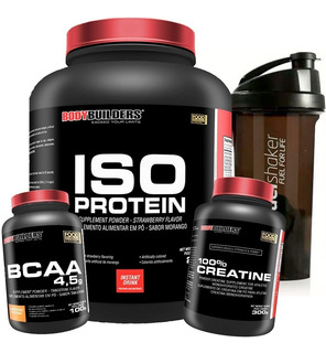 Kit Iso Protein Foods 2kg + Creatina + Bcaa + Fuel Shaker
