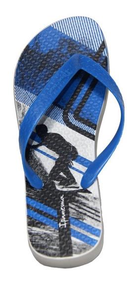 Ojota Ipanema Clas Urbana Masc Gris / Azul
