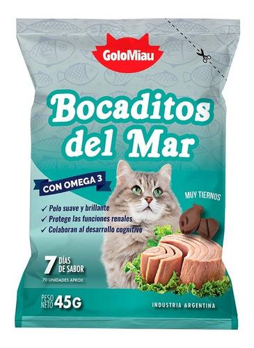 Bocaditos Del Mar Para Gato Golomiau X 45 Gr