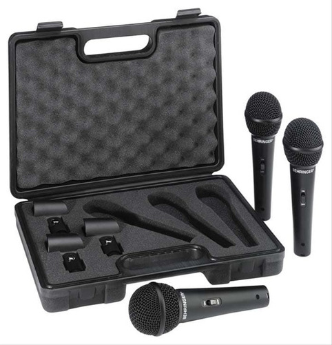 Imagen 1 de 3 de Behringer Xm1800s Kit 3 Microfonos Dinamicos  A Meses