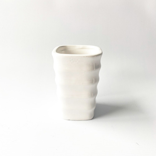 Vaso Portacepillo De Ceramica Con Fallas Brillante Noi