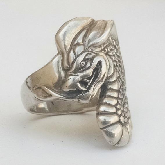 Anillo De Cobra En Plata Sólida .925 Talla 11
