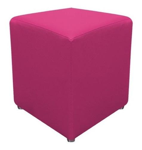 Imagem 1 de 2 de Puff Banquinho Cubo Quadrado Decorativo - Corino 34x34