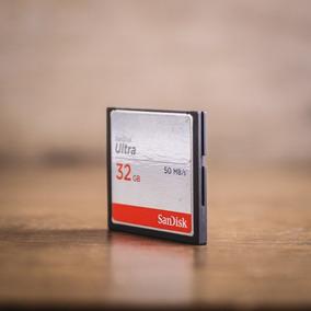 Cartão Memória 32gb Compact Flash Sandisk Cf Ultra 50 Mb/s