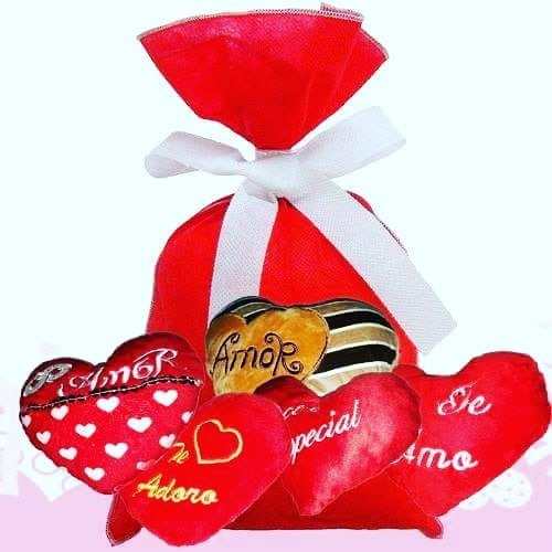 Namorados Kit 5 Corações Diversos Te Amo Original Presentes
