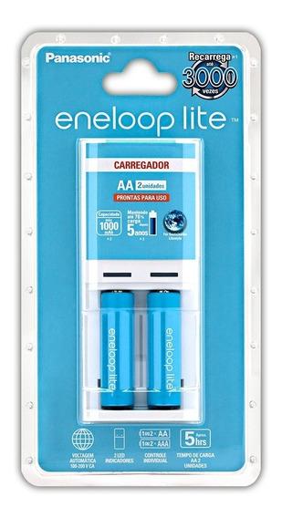 Carregador Eneloop Lite (kit Carregador + 2 Pilhas Aa)