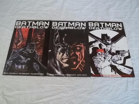 Hq Gibi Lote C/ 3 Batman Deathblow Série Dc K1
