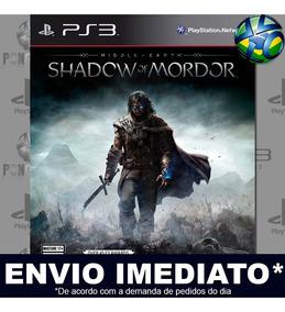 Middle Earth Shadow Of Mordor Ps3 Inglês Midia Digital Psn