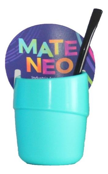 Mate + Bombilla + Disco Autolimpiante Colores Ideal Regalo