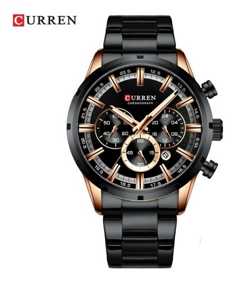 Relógio Masculino Curren Militar De Luxo Quartzo Modelo 8355
