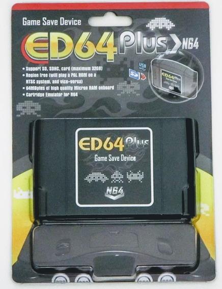 Ed64 Plus Nintendo 64 Cartão De Memória Cheio De Jogos Roms