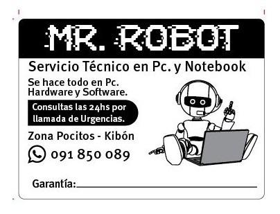 Mr. Robot. Servicio Técnico Pc Reparación Pc.