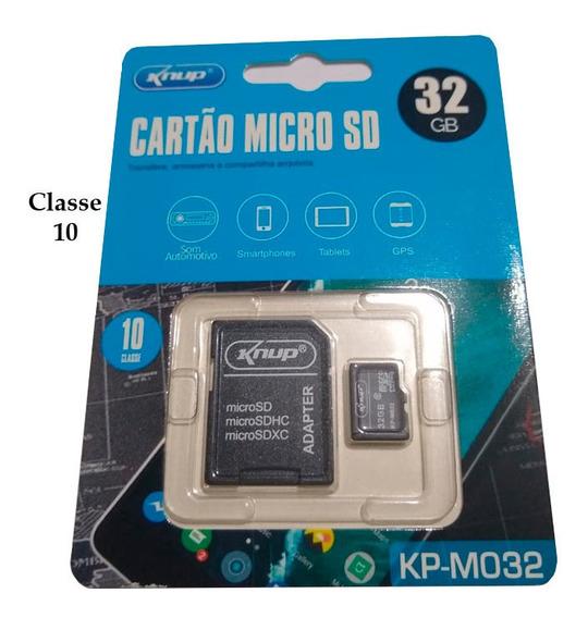Cartão De Memória Knup Micro Sd 32gb Classe 10 C/ Adaptador