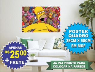 Quadro Homer Simpson Duff Em Mdf Decoração Geek Pop