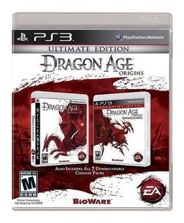 Dragon Age Origins Ultimate Edition Ps3 Playstation 3 Nuevo Y Sellado Juego Videojuego