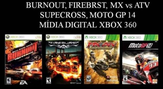 Burnout Fireburst Moto Gp14 Mx Vs Atv Xbox 360 Mídia Digital
