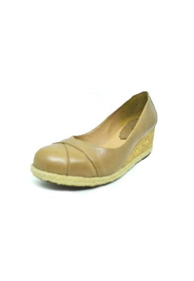 Sapatos Femininos Anabela Salto Couro Nude Dani K