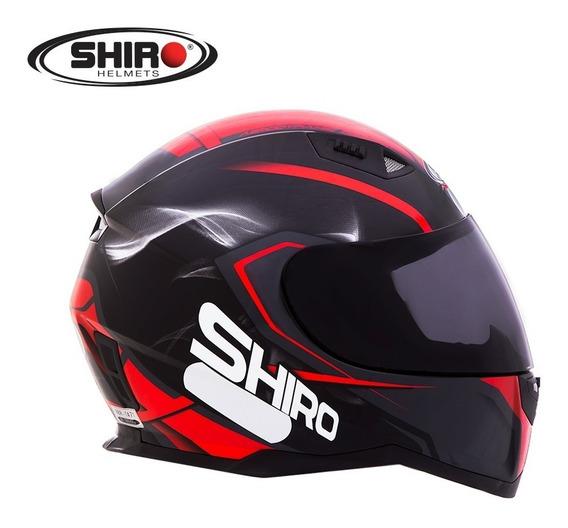Capacete Shiro Sh 881 - Motegi - Preto/vermelho