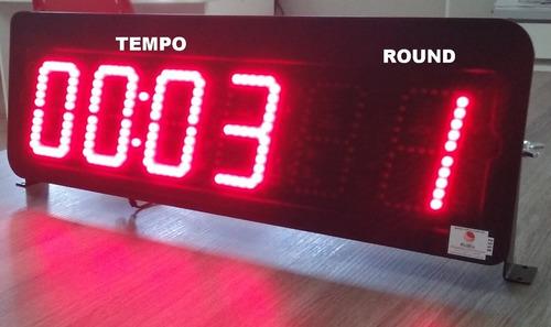 Timer Led 6 Dígitos Cronômetro De Parede E Controle Hh:mm:ss