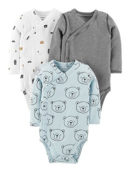 Kit 3 Bodies Carters Envelope 9 Meses