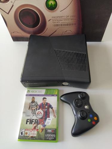 Xbox 360 Slim Original + Juego + Joystick + Fuente 220v