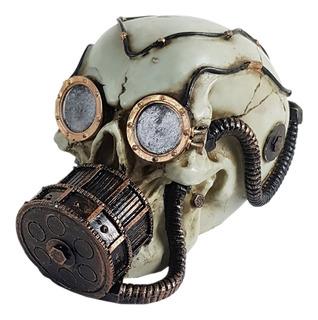 Crânio Para Aquário Mergulhador Caveira Máscara De Oxigênio