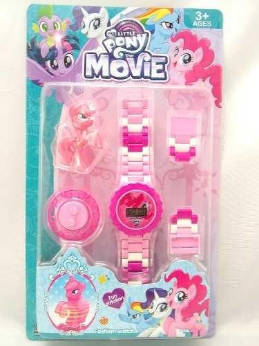 Relógio My Little Pony De Pulso Infantil Digital + Bonequinho Compatível Com Lego
