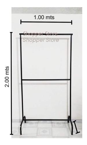 Burro Colgador Exhibidor De Ropa Material Metálico