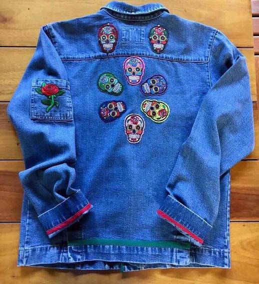Jaqueta Jeans Caveiras Mexicanas