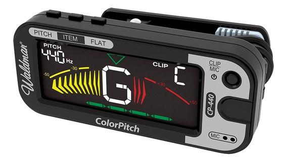 Afinador Vibração Microfone 4 Tons Colorpitch Cp-440 Waldman