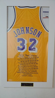 Camisa Nba Magic Johnson Autografada ,com Certificado