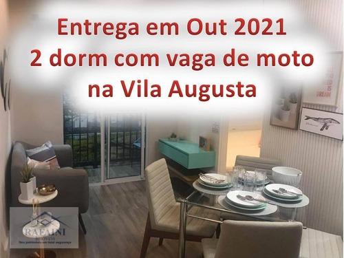 Imagem 1 de 15 de Apartamento 2 Dormitórios Com Vaga De Moto Vila Augusta - Ap0902
