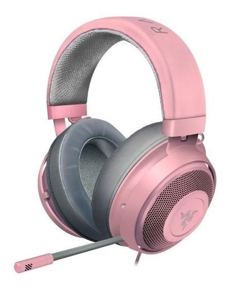 Fone de ouvido gamer Razer Kraken quartz pink
