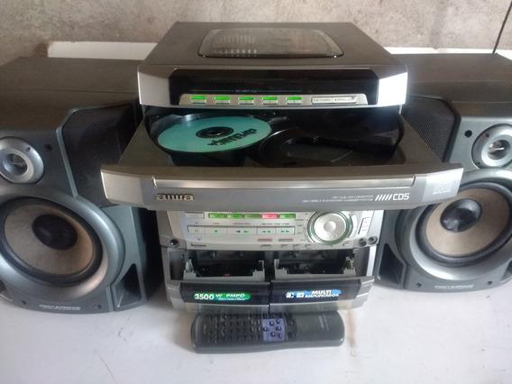 Mini Syster Aiwa Nsx F959 Com Controle Remoto E Caixa De Som