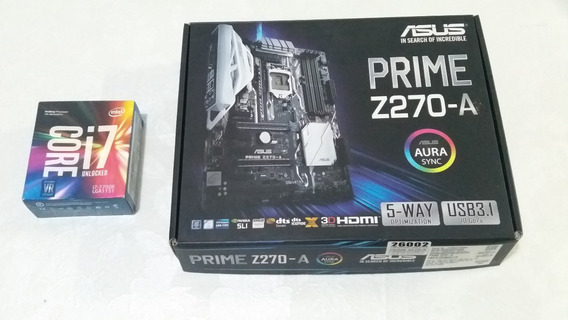 Processador I7 7700k + Asus Prime Z270 Lga1151 Ddr4 Nf