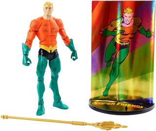 Dc Comics Multiverse Aquaman Superfriends + Tarjeta + Base