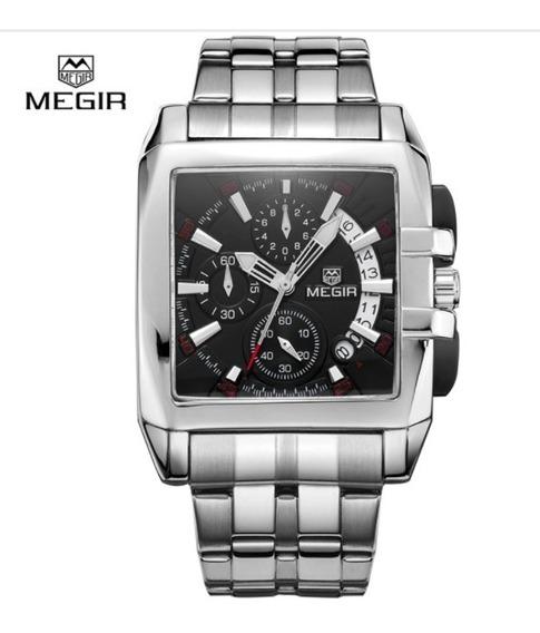Relógio Masculino Social Preto Aço Inoxidável Importado !!!