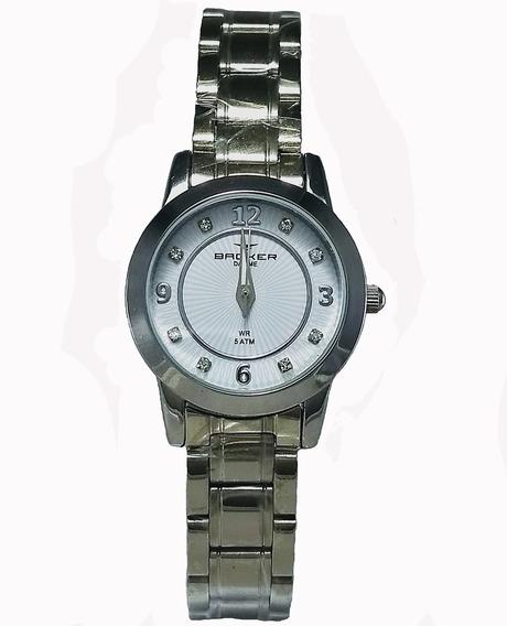 Relógio Backer Feminino 10216123f Br Original Barato