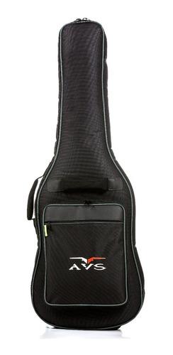 Capa Bag Luxo Guitarra Avs Ch200 Acolchoado C/ Alça Mochila