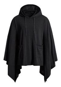Poncho Masculino Street Style - Blusão Poncho Com Capuz