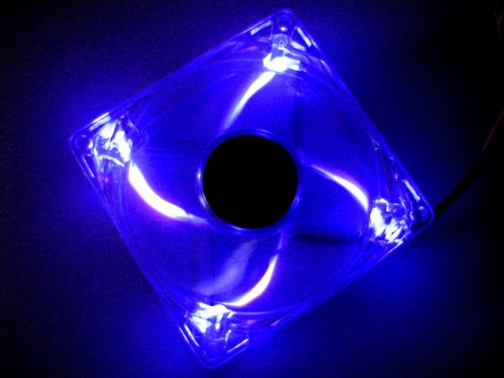 Micro Ventilador 80x80x25mm Led Uv Luz Negra Akasa Fan Mod