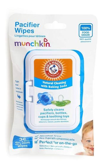 Pacifier Wipes - Munchkin - Lenços Para Chupetas - 3 X 36 Un