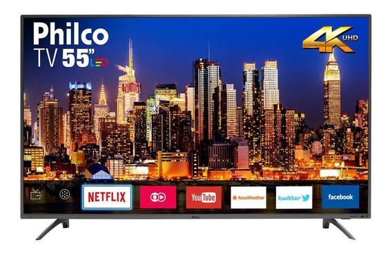 Smart Tv Led 55 Philco Ptv55f61snt 4k 3 Hdmi 2 Usb Titanium